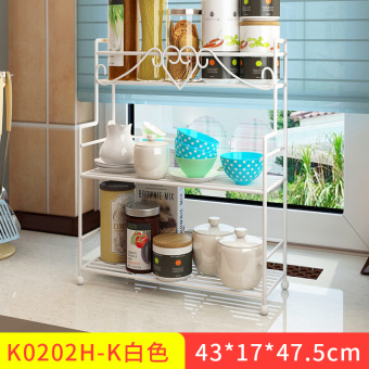 Modern floor multi-simple storage rack kitchen shelf