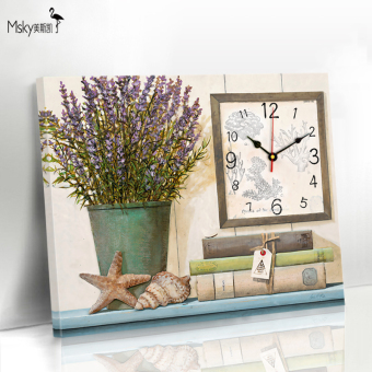 Modern frameless painting Hanging Clock restaurant Decorative Painting