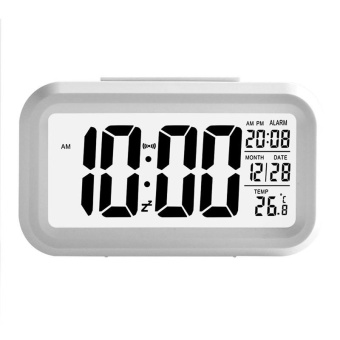 Modern Large-Display Digital Alarm Clock LED with Calendarcolor:White - intl
