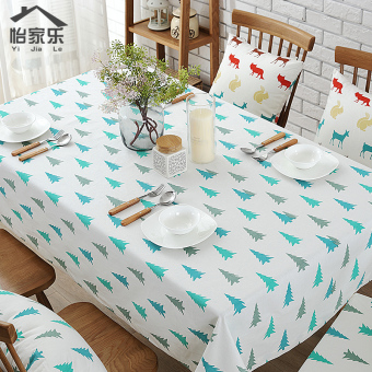 Modern minimalist fabric Christmas tree tablecloth