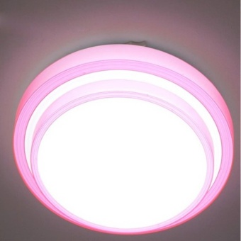 Modern NEW 12W Warm White LED Modern Ceiling Light LampLighting(color: Pink) - intl