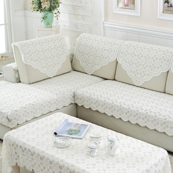 Modern pastoral cloth cover cushion sofa pad