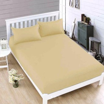 MODERN SPACE High Quality Bedsheet Double Size With FREE Two PillowCases (Beige) Price Philippines
