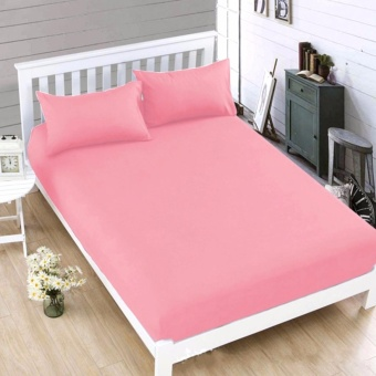 MODERN SPACE High Quality Bedsheet Double Size With FREE Two PillowCases (Pink) Price Philippines