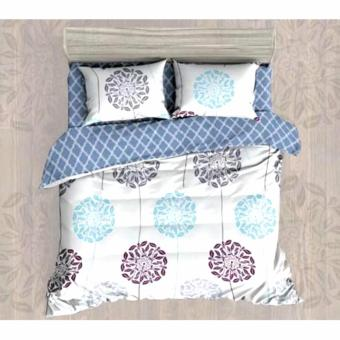MODERN SPACE High Quality Fitted Bedsheet Double Size With FREE Two Pillow Cases Dandelion Inspired Printed Design