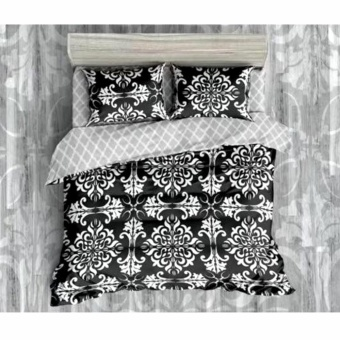 MODERN SPACE High Quality Fitted Bedsheet Double Size With FREE Two Pillow Cases Okir Printed Design