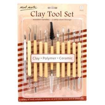 Monte Marte 11pcs Pottery Clay Sculpting Tools Carving Tools Set