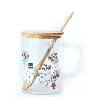 Moomin with lid spoon cup