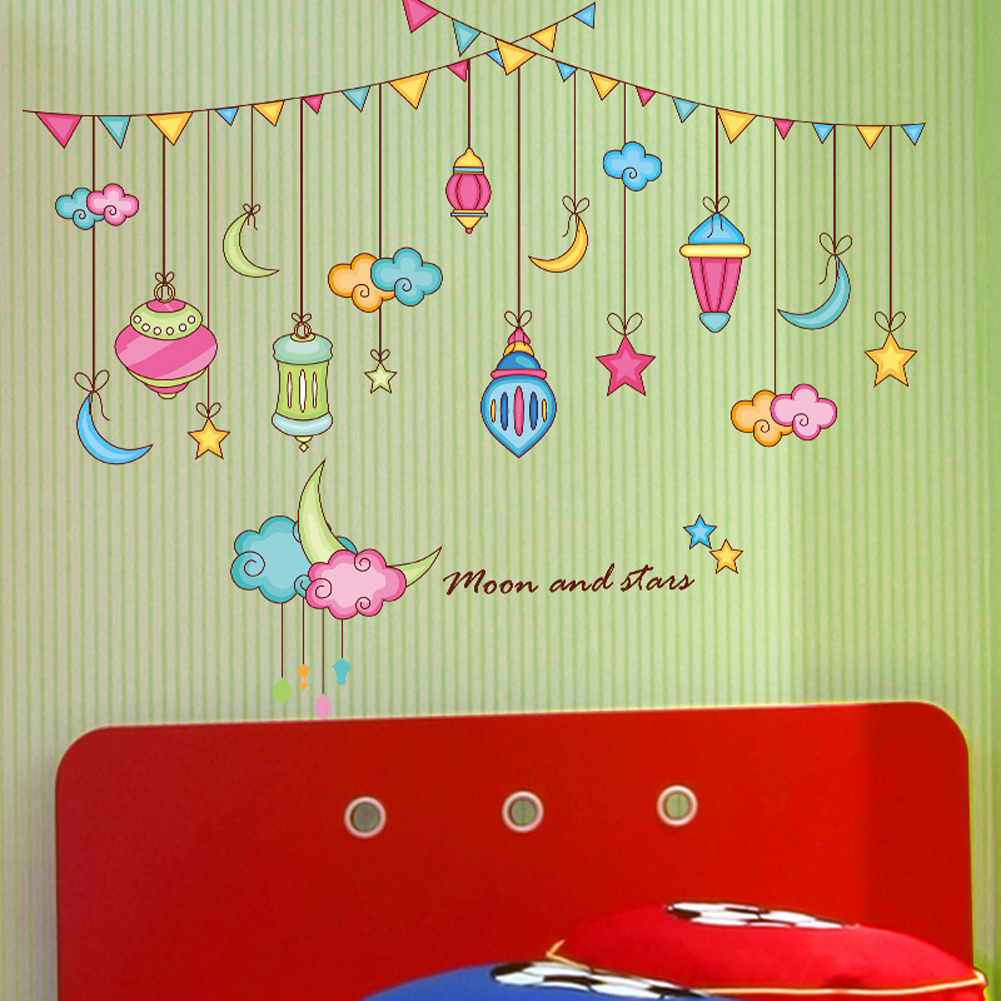Philippines   Moon and Stars Clouds Wall Decal Home Sticker PVC ...