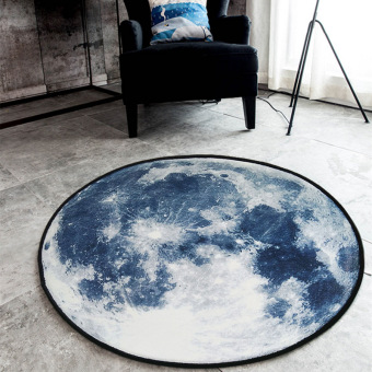 Moon living room coffee table bedroom room bedside blanket round rug