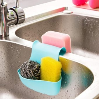Moonar Double sink saddle style kitchen organizer storage sponge holder rack tool - intl - 2