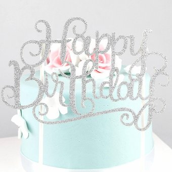 Philippines Moonar Glitter Happy Birthday Cake Flag Topper Favors