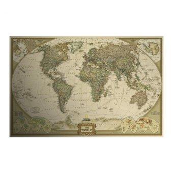 ... Moonar Vintage antique poster World map wall sticker paper for home decor intl 2