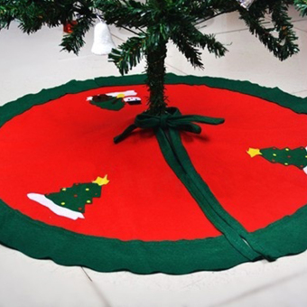 Moonar Xmas Ornaments Home Decoration Santa Claus Snowman Non-woven Christmas Tree Skirt Mat - intl