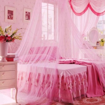Mosquito Net Bed Canopy King/Queen Size (Pink)