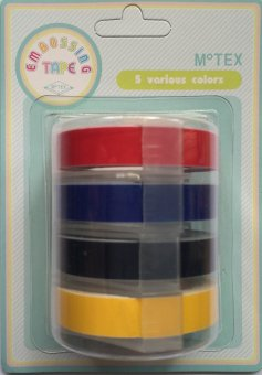 Motex 7 Embossing Tapes, Set of 4