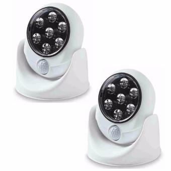 Motion Activated Cordless LED Night Sensor Light (White) Set of 2