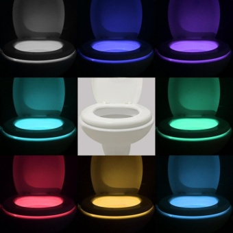 Motion Activated Toilet Night light , Vintar Body Auto Motion Activated Sensor Colorful Nightlight, 8-Color Changes, Only Activates in Darkness - intl