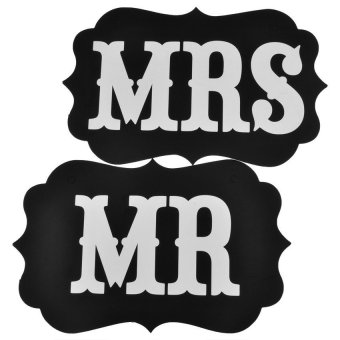 MR and MRS Wedding Signs for Wedding Photo Booth Props (Intl)