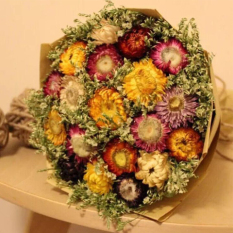 Multi-color birthday Valentine's Day bouquet of dried flowers bouquet