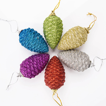 Multi-color Christmas decoration Christmas tree decoration products pine cones