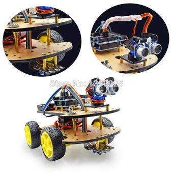 Multi-function 4WD Robot Car Kits Ultrasonic Module UNO R3 MEGA328PRobot Car Assembly Kit Price Philippines
