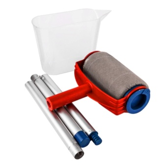 Multi-function Paint Roller Kit Rolling Painting Brush Runner with Paint Container Home Office Decoration Brush Set - intl