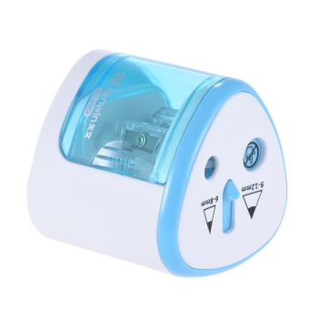 Multi-functional Automatic Electric Pencil Sharpener Battery Operated with 2 Holes(6-8mm / 9-12mm) for Home School Student Blue - intl - 2