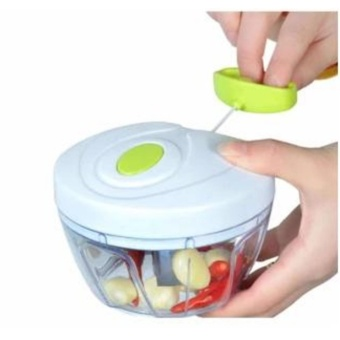 Multi-Functional Mini Vegetable Chopper for Onion, Garlic,Vegetable and Fruits (WHITE/GREEN)