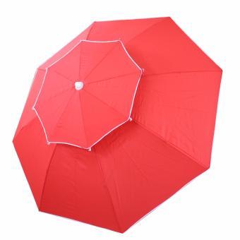 Multifunctional Big double leyered Outdoor patio Garden Beachumbrella (RED) - 2