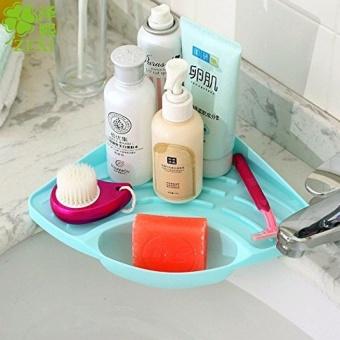 Multifunctional Kitchen Sink Triangle Racks Soap Stand StorageOrganizer Box Holder (Green) by LuckyG - intl - 2