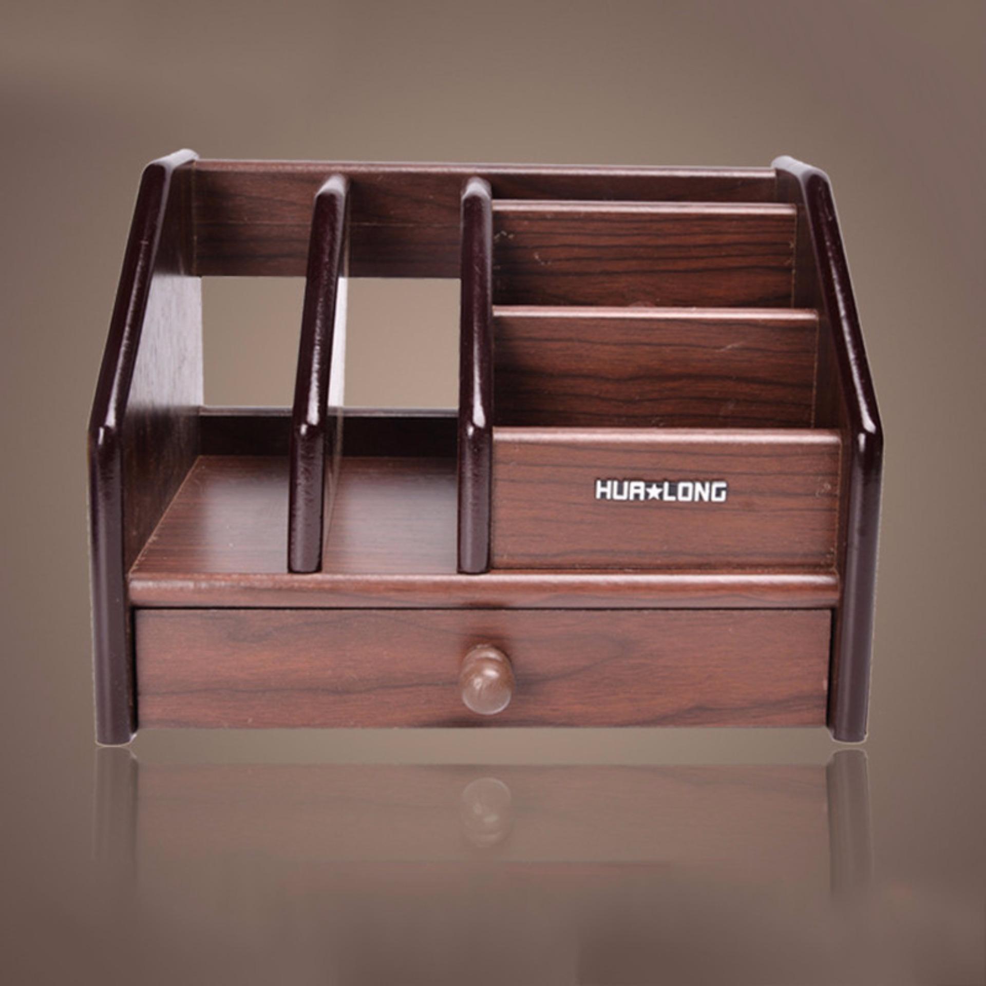 office desktop storage. Multifunctional Wooden Desktop Storage Boxes Case Office DeskStationery Organiser Holder Home Table Organizer Rack - Intl