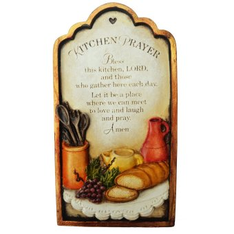 My Kitchen Prayer Wall Decor - Gift Suggestion and Religious Item(Made of Fiberglass Resin) by Everything About Santa (Christmasdecoration and gift suggestion)