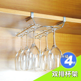 Nailless hanging glass hanging cup rack wine cup holder