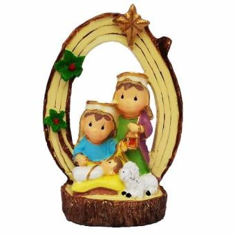 Nativity Cutie Holy Family Arc Christmas Decor (Nativity - Jesus,Mama Mary, St. Joseph) Religious Item Figurine for the Holiday(Made of Fiberglass Resin) by Everything About Santa (Christmasdecoration and gift suggestion)