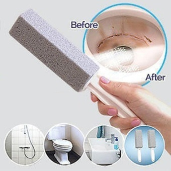 Natural Pumice Stone Toilets Dead Gap Brush Sinks Bathtubs Cleaner(gray) - intl