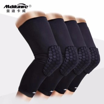 New 2017 Best Choice Best Quality Sport Protective HoneycombBasketball Knee Pads Set of 1- Large