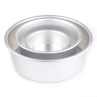 New 2/4/6/8'' Aluminum Alloy Non-stick Round Cake Baking Mould PanBakeware Tool 6 inches - 3