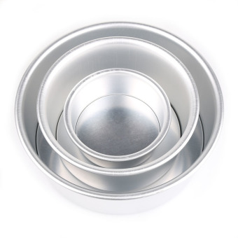 New 2/4/6/8'' Aluminum Alloy Non-stick Round Cake Baking Mould PanBakeware Tool 6 inches - 2