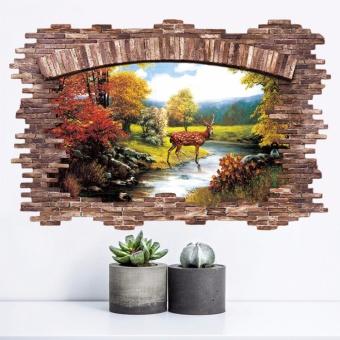 New 3D Golden Deer Bedroom Living Room Removable Wall Stickers -intl - 4