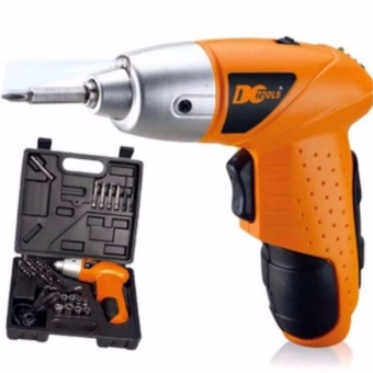 New Best Quality Cordless Mini Portable Electric Screwdriver Drill 45pcs Tool Kit (Orange)
