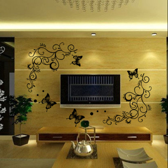 New Butterfly Fly Flower Wall Stickers Decal Removable Art Vinyl