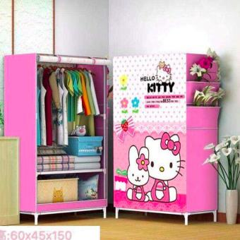 New Cabinet Clothes Wardrobe Storage for Kids Children -Size 60 x45x 145- Style 1