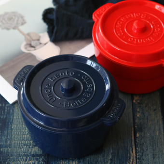 New Cast iron pot style double layer lunch box