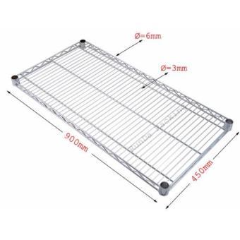 NEW Chrome Storage Rack 4-Tier Organizer Kitchen Shelving CarbonSteel Wire Shelves - 4