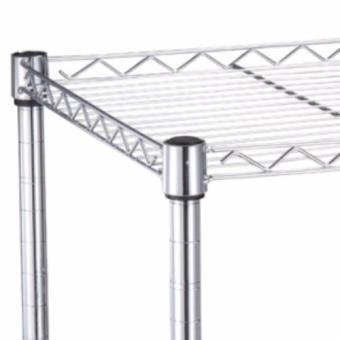 NEW Chrome Storage Rack 4-Tier Organizer Kitchen Shelving CarbonSteel Wire Shelves - 3