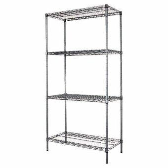 NEW Chrome Storage Rack 4-Tier Organizer Kitchen Shelving CarbonSteel Wire Shelves - 2