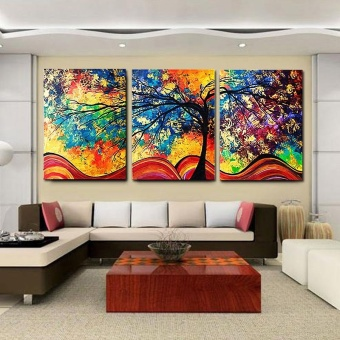 New Creative Multicolor Home Decoration Square Oil Painting Wall Decor Painting - intl