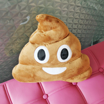 New Cute Emoji Cushion Poo Shape Pillow Stuffed Doll Toys Christmas Gifts (Intl) - picture 2