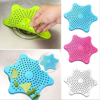 New Cute Home Living Floor Drain Hair Stopper Bath Catcher SinkStrainer Sewer Filter Shower Cover - intl
